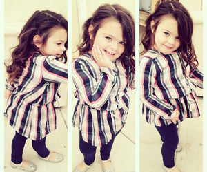 fashion, little girl, and plaid image