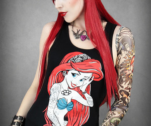 tattoo, ariel, and red hair image