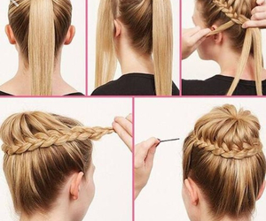 blonde, tutorial, and hair image