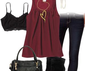 burgundy, fashion, and heart image