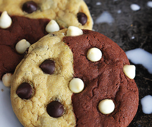 chocolate, Cookies, and white chocolate image