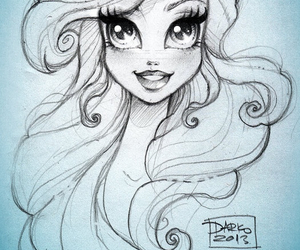 ariel, art, and drawing image