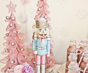 pink, christmas, and nutcracker image
