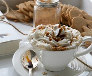 food, coffee, and christmas image