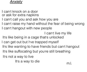 anxiety, quote, and sad image