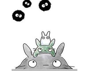 totoro and illustration image