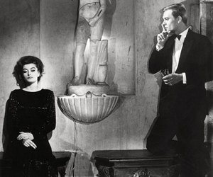 anouk aimee, la dolce vita, and vintage image