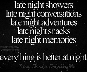 late night, me, and things image