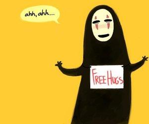 hug, spirited away, and free hugs image