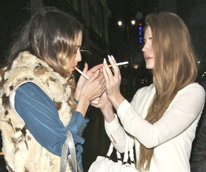 lana del rey, cigarette, and smoke image