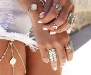 bracelets, ring, and shorts image