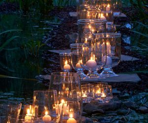 candle, lights, and nature image