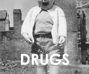 drugs, kids, and black and white image