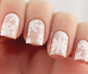 nails, snowflake, and white image