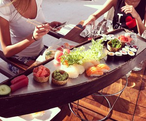 food, sushi, and friends image