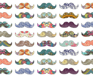 colors, mustaches, and moustache image