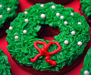cake, christmas, and dessert image