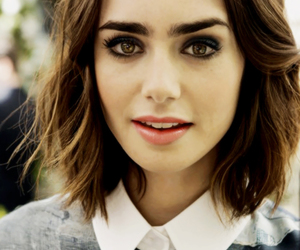 lily collins, hair, and lilly collins image