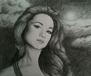 drawing, teen wolf, and crystal reed image