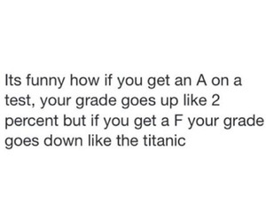 school, grades, and funny image