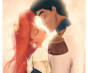 ariel, princess, and love image