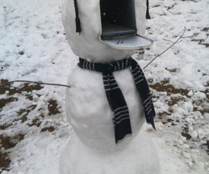 funny, mail, and snow image