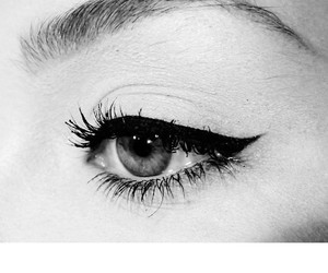 eyeliner, beautiful, and black and white image