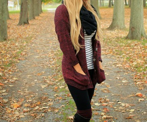 blogger, burgundy, and fall image