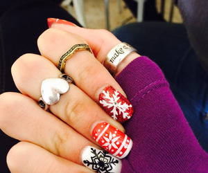 christmas, nails, and happy image