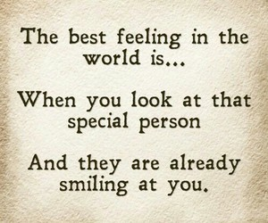 love, feeling, and smile image