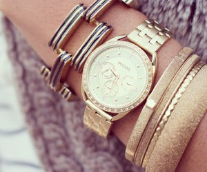 bracelet, classy, and gold image