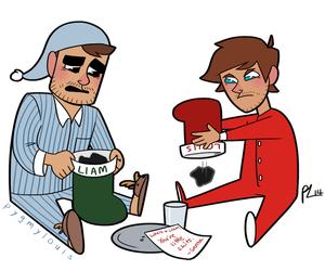 bad boys, christmas, and drawing image