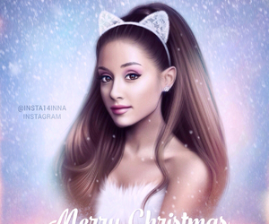 arianagrande, art, and christmas image