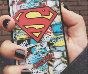 superman, iphone, and black image