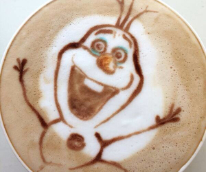 olaf, coffee, and frozen image
