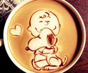 coffee, snoopy, and art image