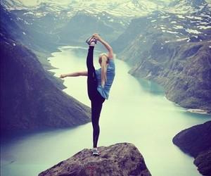 girl and mountains image