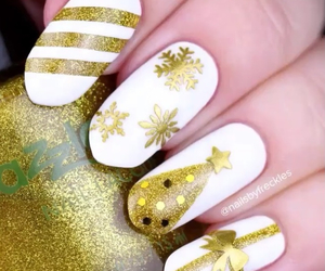 art, christmas, and nail image