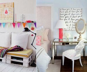 bedroom, colorful, and colours image