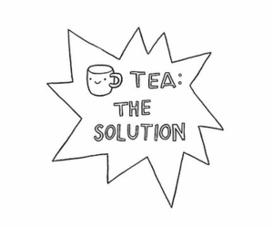 tea, solution, and text image