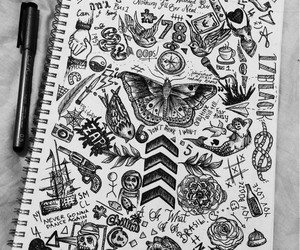 one direction, tattoo, and drawing image