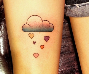 tattoo, clouds, and heart image