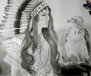 art, native american, and drawing image