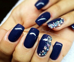 nails, blue, and nails polish image