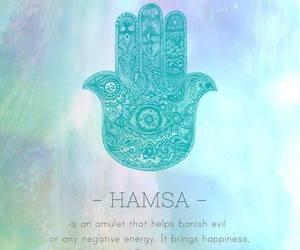 hamsa, amulet, and happiness image