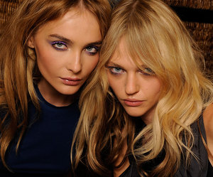 model, Sasha Pivovarova, and Snejana Onopka image