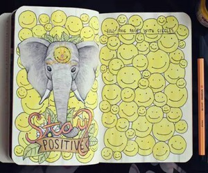 wreck this journal, elephant, and art image