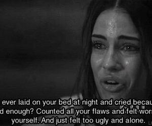 cry, sad, and alone image
