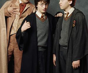 harry potter, ron weasley, and gilderoy lockhart image