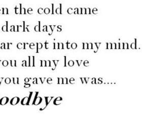 goodbye, quote, and love image